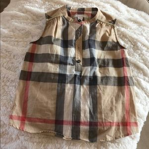 Burberry children's sleeveless blouse size 4Y